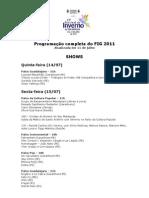 programação FIG 2011 11_07