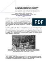 O Instituto Superior de Tecnologia de Paracambi FAETEC Numa Perspectiva Historica