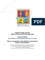 8th grade music performance assessment teacher package spring 2011  final