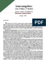 Apocrf - Metaevangelios - Tomas - Felipe y Valentin