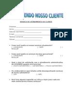 FORMULÁRIO Pesquisa de Satisfação Cliente 02.08.07