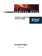 FortiGate Traffic Shaping Tech Note 01-30006-0304-20080407