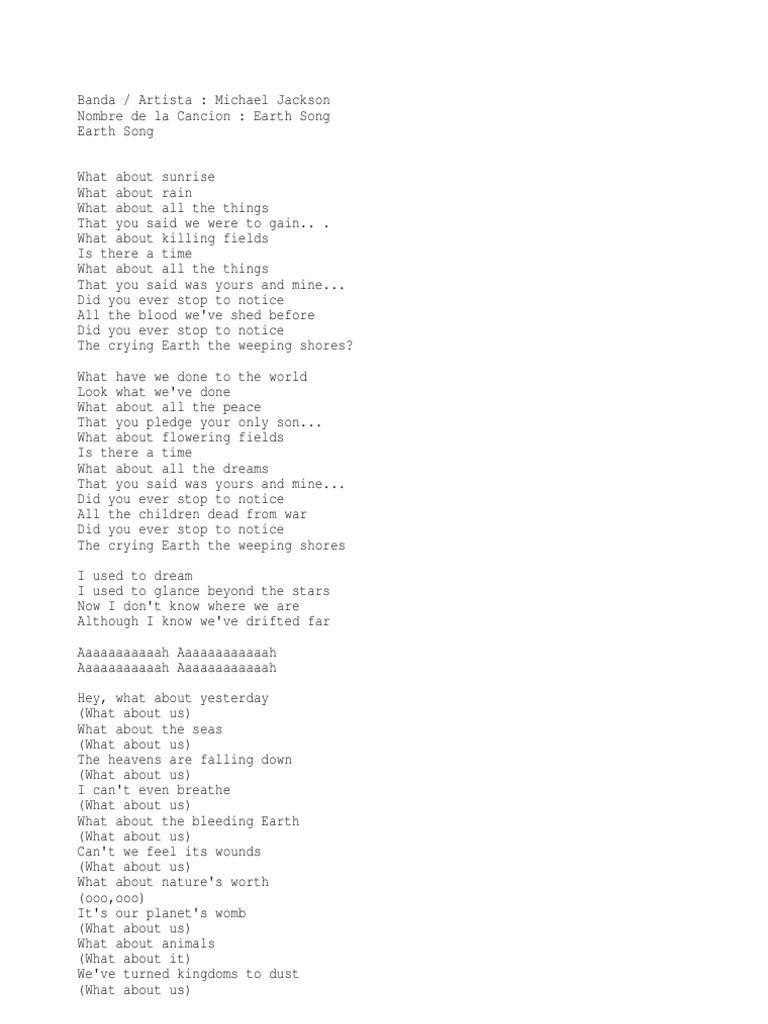 Letras Michael Jackson Michael Jackson Song Recordings