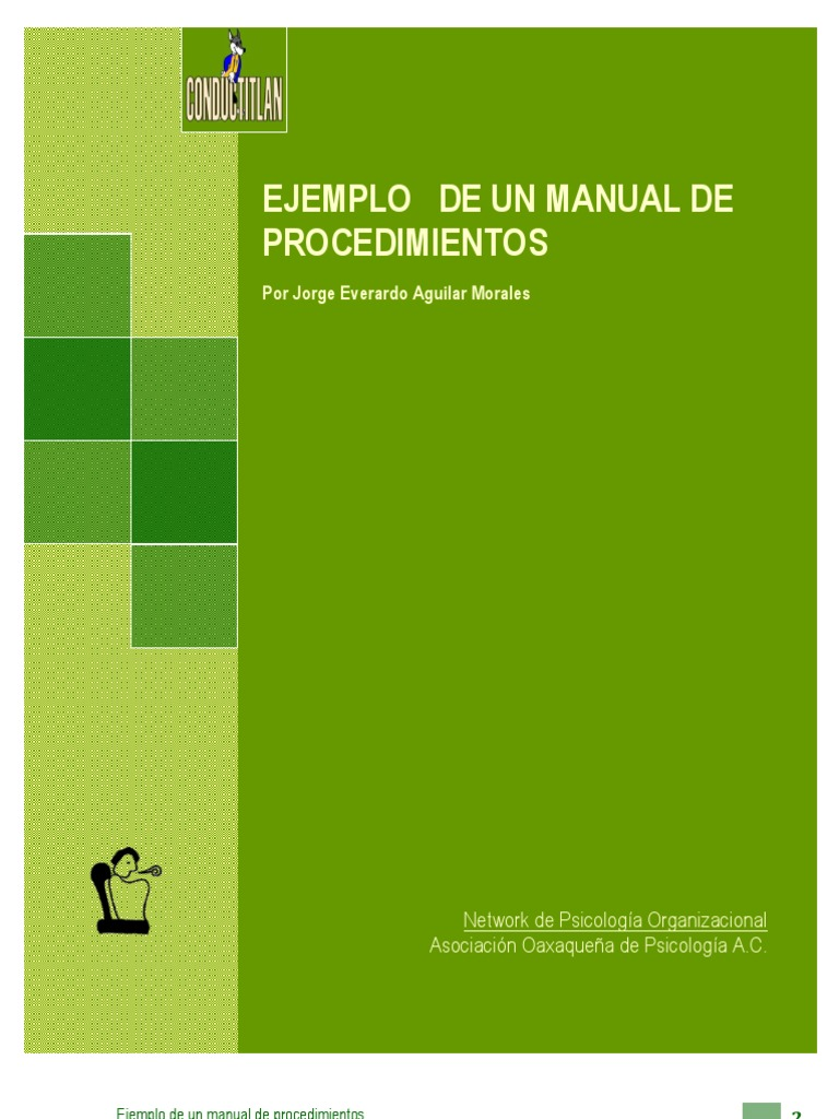 Ejemplo manual procedimientos y capacitacion for Ejemplo de manual de procedimientos de un restaurante