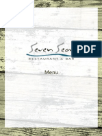 Seven Seas Restaurant and Bar Menu