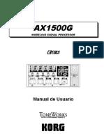 pedalera AX1500G_
