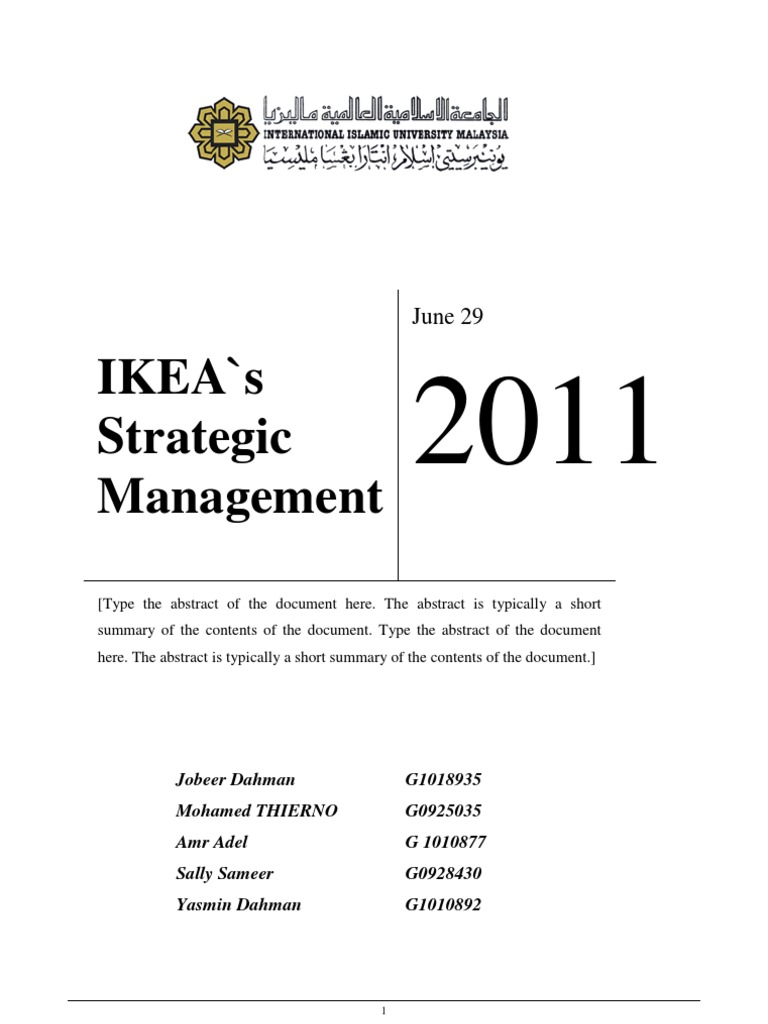 ikea management analysis My assignment help : samples & case study review sample opearation managment assignment help on : a case study on dfs and ikea's operations management.