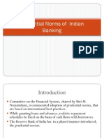 Prudential Norms of Indian Banking