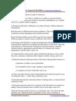 12 Audit of Hotel Checklist