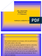 Cell reselection & selection