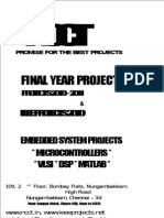 NCCT - IEEE Projects 2010 -- Domain Wise Titles List - Embedded Projects List - Embedded - Electro