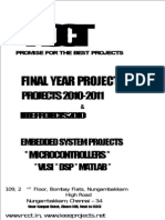 NCCT - Projects 2010 - Jammer Project Titles List