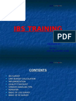 IBS Training Module