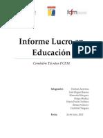 Informe Lucro en la Educación
