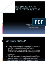 Software Quality in Object Oriented System