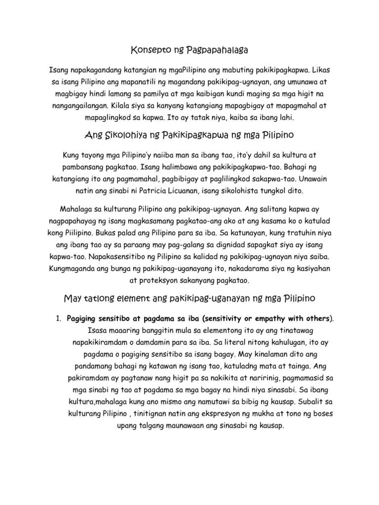 Pakikipagkapwa tao meaning in english