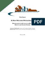 New Western Water Agenda