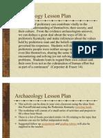 Archaeology Lesson Plan