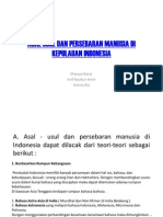 Asal Usul Dan Persebaran Manusia Di Kepulauan Indonesia