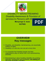 Mainstreaming Disability Manyonge