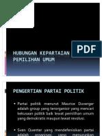 Hubungan Kepartaian Dan Pemilu