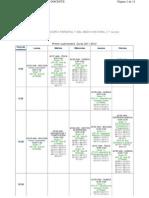 Horarios provisionales 1º Gº Ing. Forestal y del Medio Natural (Curso 2011-2012)