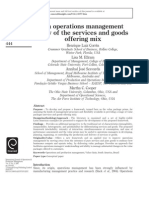 1. an Operations Management View of the Services and Goods Offering Mix