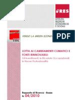 Rapporto di ricerca Ires del 04/2010 su cambiamenti climatici e fonti rinnovabili