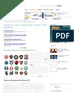 Tabela de Jogos Campeonato Brasileiro 2011 - Brasileirão