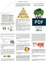 folder alimentação saudável PRONTO