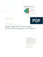 Twenty-To-One - Wealth Gaps Rise to Record Highs Between Whites, Blacks and Hispanics