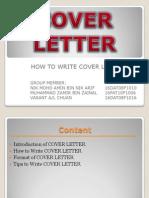 Presentation of Cover Letter