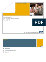 SAP Portfolio and Project Management 5 0 - Introduction