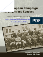 The European Campaign - Its Origins and Conduct