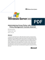 Administering Group Policy With Group Policy Management Console