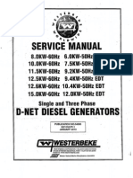 WESTERBEKE Manual Service 8-15 Edt 54600 Rev 1
