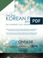 Program - 2nd Korean Film Spotlight // Programme - 2e Plein feu sur le cinéma coréen