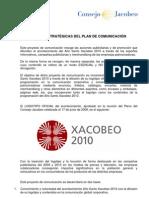 XACOBEO 2010. Manual Lineas Estrategicas