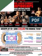 First MMA Event in Oshawa