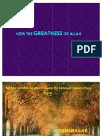 Greatness of ALLAH