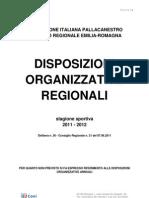 Disposizioni Organizzative Annuali Regionali 2011 - 2012
