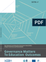 Governance Matters to Education Outcomes