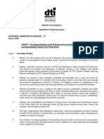 DTI Department Administrative Order Number 8 - Prescribing Guidelines for the Protection of Personal Data in Information and Communications System in the Private Sector