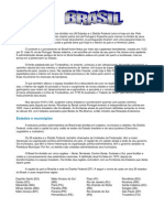 BRASIL - Desenvolvimento - regiões - divisão política