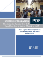 Haiti CSO Education Directory FRENCH July2010 FINAL
