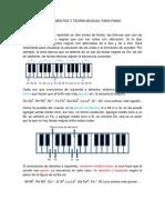 PRIMERA LECCIÓN DE PIANO