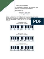 CUARTA LECCIÓN DE PIANO