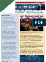 Metcalfe Summer 2011 Newsletter