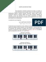 QUINTA LECCIÓN DE PIANO fifth lesson of Piano