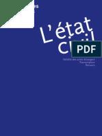 Etat-civil conjoints de français transcription recours validité des actes étrangers dossier GISTI juillet 2011